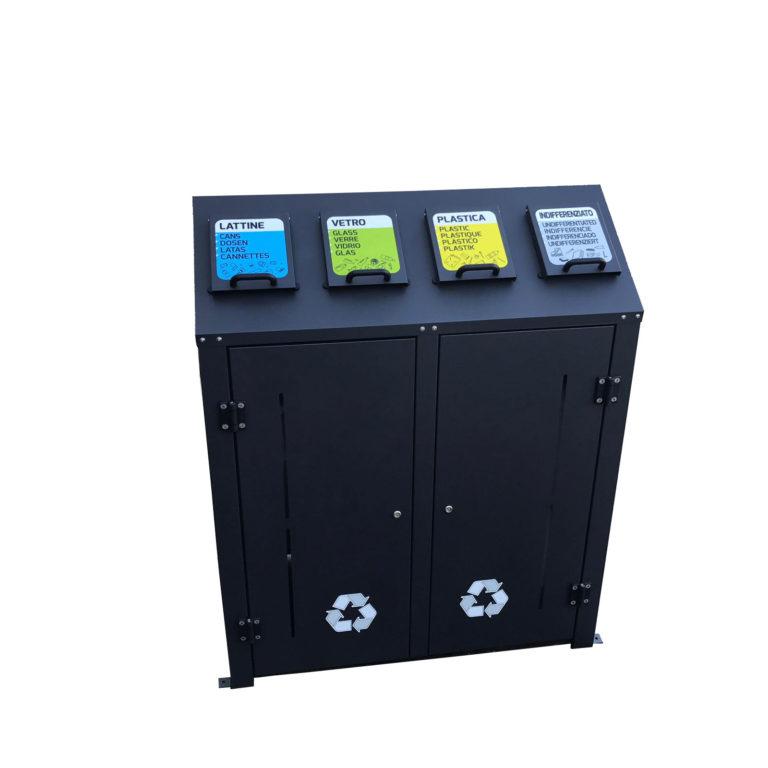 Eco compact 4 raccolte in metallo. 360 lt. complessivi