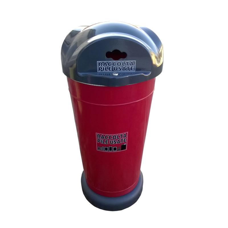 Art.1102 Contenitore raccolta pile usate 105 lt. con base di cemento